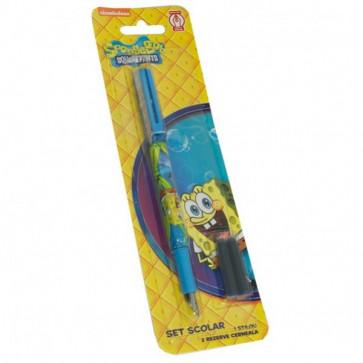 Stilou penita iridium + 2 rezerve, PIGNA Sponge Bob