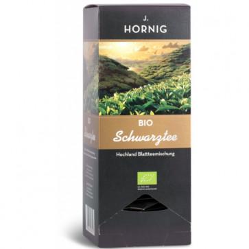 Ceai negru BIO, 25 plicuri triunghiulare, J. HORNIG