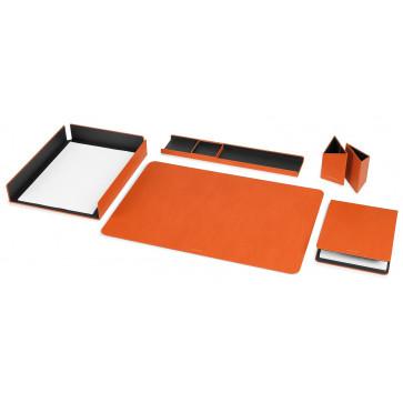 Set birou din imitatie de piele, portocaliu, FEDON Scrittoio 5-S