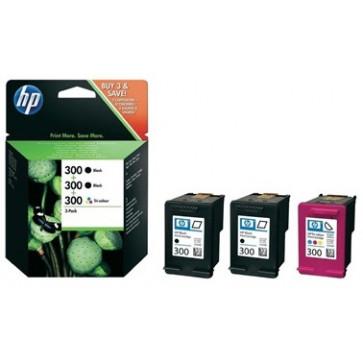 Cartus, 2 x black + color, Nr. 300, 3 buc./set, HP SD518AE