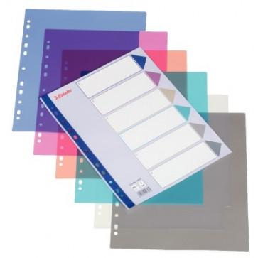Separator din plastic (PP), A4 Maxi, Esselte