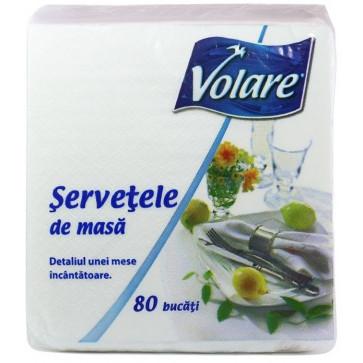 Servetele, 1 strat, 33 x 33cm, alb, 80 buc.pachet, VOLARE