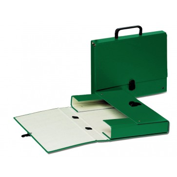 Servieta din plastic, cu maner, verde, Esselte VIVIDA Glamour