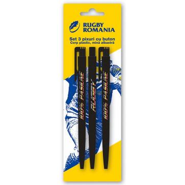 Pix cu mecanism, mina albastra, 3 buc./blister, PIGNA FRR
