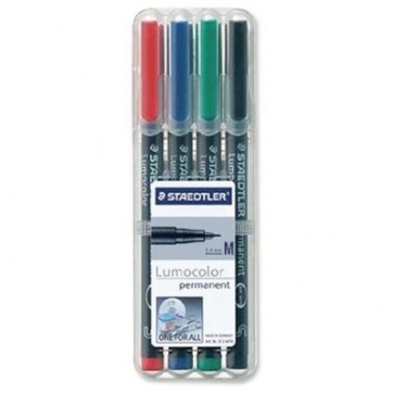 Set marker non-permanent 0.8-1mm, 4 culori/set, STAEDTLER Lumocolor