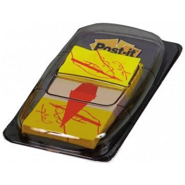 Index autoadeziv, din plastic, 25.4 x 43.7mm, 50 indecsi/set, POST-IT Sign here 680-31