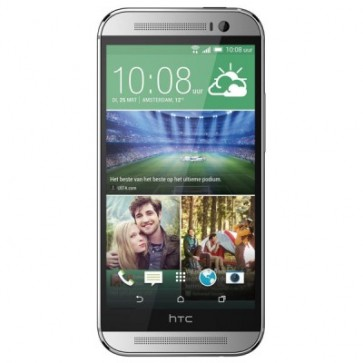 "Smartphone 5"""", 4 MP Ultra Pixel Dual Camera, Silver, HTC One M8"