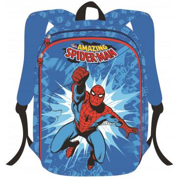 Ghiozdan, clasele 1-4, 2 fermoare, bleu, PIGNA Spiderman 3D
