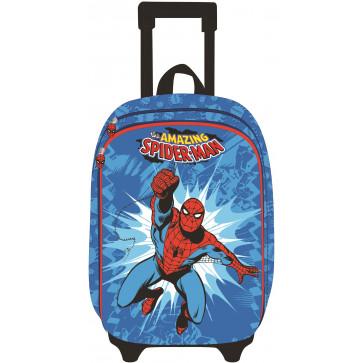 Ghiozdan troller, clasele 1-4, 2 fermoare, bleu, PIGNA Spiderman