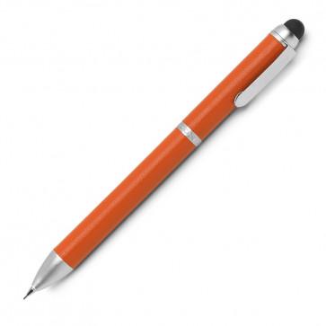 Creion mecanic, din piele de bovina, portocaliu, FEDON Sense