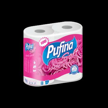 Hartie igienica, 2 straturi, 4 role/set, PUFINA Soft