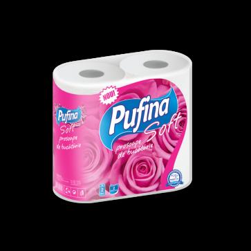 Prosop din hartie, 2 straturi, 2 role/set, PUFINA Soft