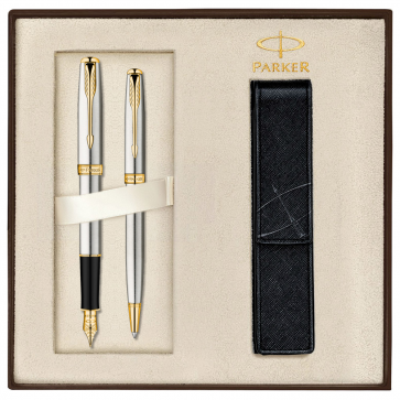 Set PARKER Sonnet Stainless Steel GT - Stilou + Pix