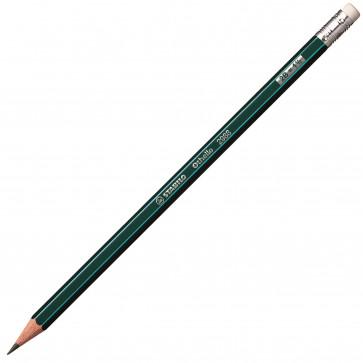 Creion cu mina grafit, cu radiera, 2B, STABILO Othello