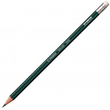 Creion cu mina grafit, cu radiera, HB, STABILO Othello