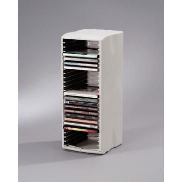 Stand pentru 25 CD/DVD-uri, gri deschis, FELLOWES
