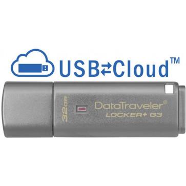 Stick USB 32GB KINGSTON DataTraveler Locker+ G3 USB 3.0, criptare hardware