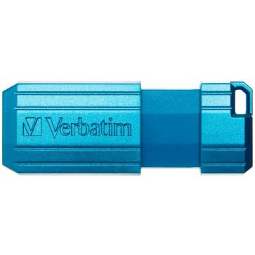 Stick USB 32GB VERBATIM PinStripe Key USB 2.0, Caribbean Blue