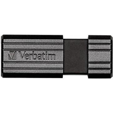 Stick USB 8GB VERBATIM PinStripe USB 2.0, Black