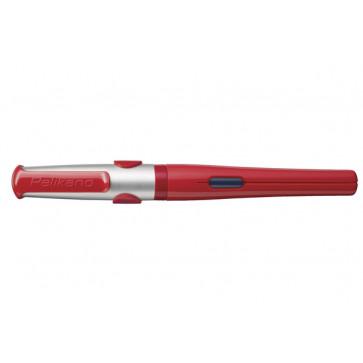 Stilou, cu grip pentru dreptaci, penita f, rosu, model 2015, cutie de carton, PELIKAN Pelikano Junior