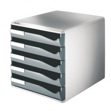 Suport documente, 5 sertare, gri, LEITZ Standard