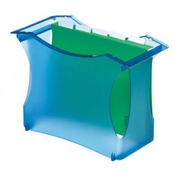 Suport pt. dosare suspendabile (5 dosare suspendabile incluse), albastru translucid, ESSELTE Intego