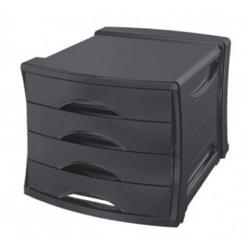 Suport cu 4 sertare, negru, ESSELTE Europost VIVIDA