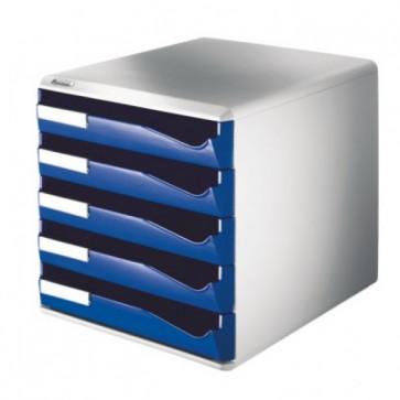 Suport documente, 5 sertare, albastru, LEITZ Standard