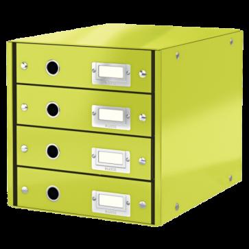 Suport pentru documente cu 4 sertare, verde, LEITZ Click & Store