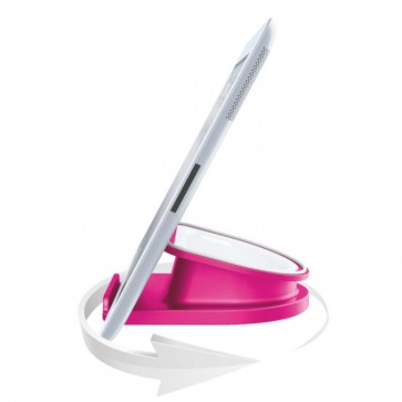 Suport rotativ pentru iPad/tableta PC, iPhone/smartphone, roz, LEITZ Complete WOW