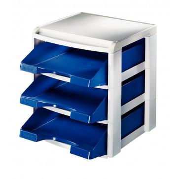 Suport tavite pentru documente, albastru, LEITZ Plus