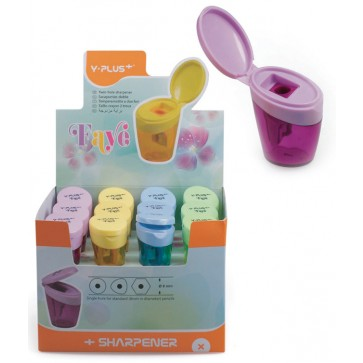 Ascutitoare din plastic, cu container, PIGNA Faye Y-Plus+