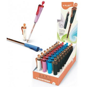 Ascutitoare din plastic, capac, suport creion, PIGNA Y-Plus+
