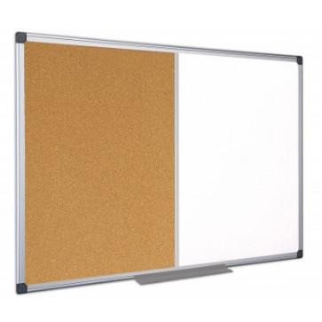 Tabla cu 2 suprafete, rama din aluminiu, 120 x 90cm, BI-OFFICE