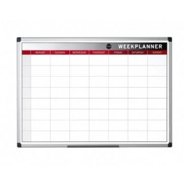 Tabla de planificare, saptamanala, rama din aluminiu, 60 x 45cm, BI-OFFICE