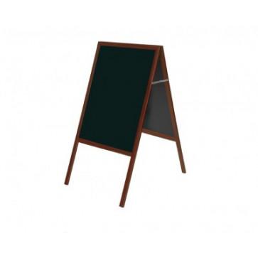 Tabla info, rama din lemn negru, 90 x 60cm, BI-OFFICE