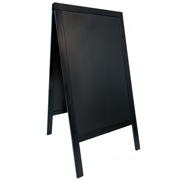 Tabla info, rama lemn negru, 70 x 125cm, SECURIT