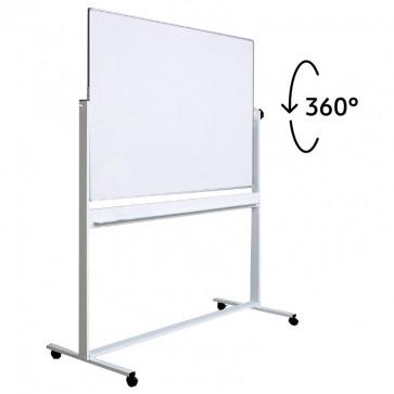 Tabla magnetica - whiteboard, doua suprafete, mobila, rotativa, 150 x 100cm, OPTIMA