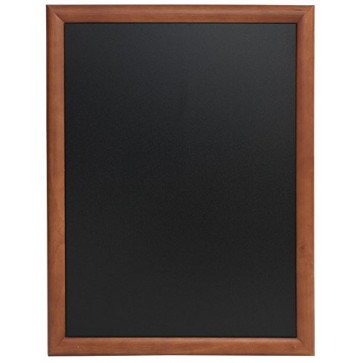 Tabla pentru creta, rama lemn maro inchis, 70 x 90cm, SECURIT Universal