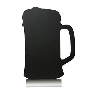 Tabla pentru creta, suport aluminiu, forma Beer, SECURIT