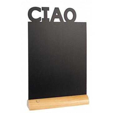 Tabla pentru creta, suport lemn, forma Ciao, SECURIT
