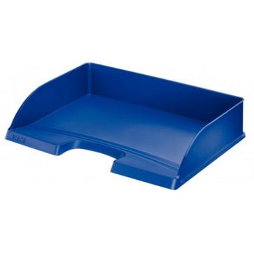 Tavita documente cu deschidere pe latura mare, albastru, LEITZ Plus
