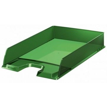 Tavita documente, verde transparent, ESSELTE Europost