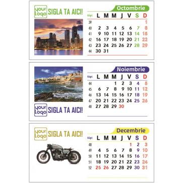 Calendar birou 100% personalizabil, 13 file, print fata