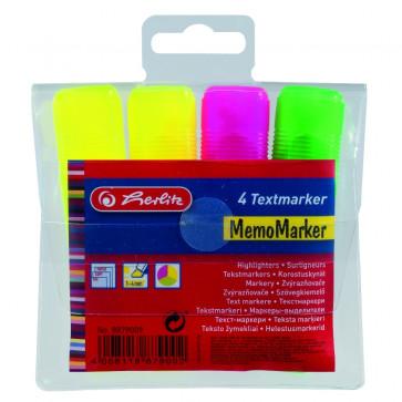Textmarker, 4 culori/set, HERLITZ
