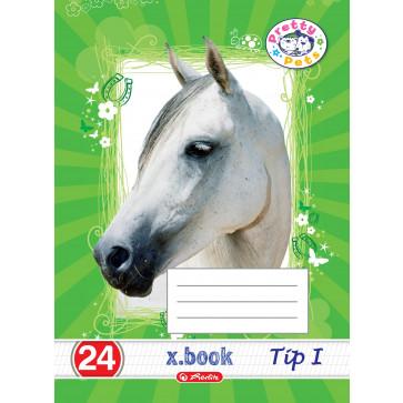 Caiet A5, 24 file, tip 1, HERLITZ Pretty Pets