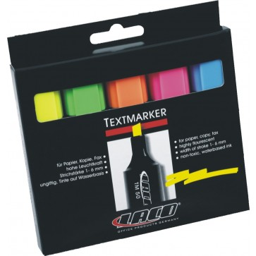 Textmarker 1-6mm, 5 culori/set, LACO TM50