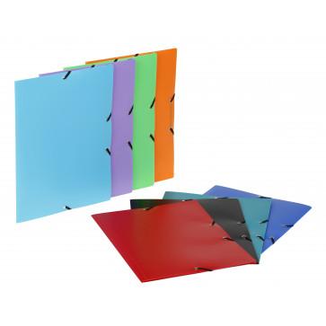Mapa din plastic, A4, diverse culori, cu elastic, VIQUEL Rabats