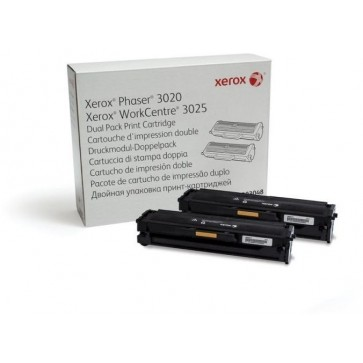 Toner, black, 2 buc./set, XEROX 106R03048