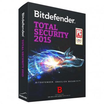 Total Security 2015, 1 an, 3 utilizatori, Box, BITDEFENDER